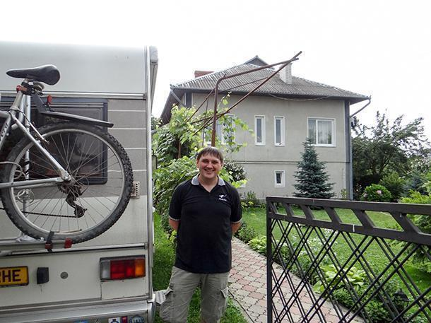 Vitaliy, Ex-Owner of On the Corner Guesthouse, Kolomyya, Ukraine