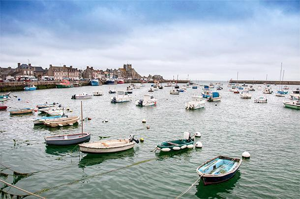 Grey skies didn't make Barfleur in Normandy any less inviting