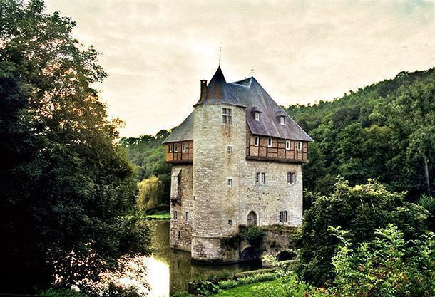 Crupet is one of the beautiful villages of Wallonia, Belgium