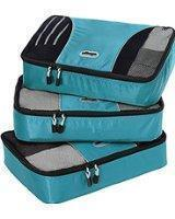 Packing cubes come in a variety of sizes shapes and colours to make packing super organised
