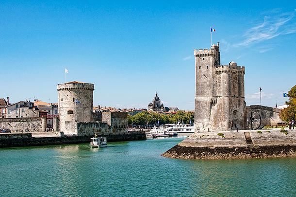 The imposing towers of La Rochelle's Old Port