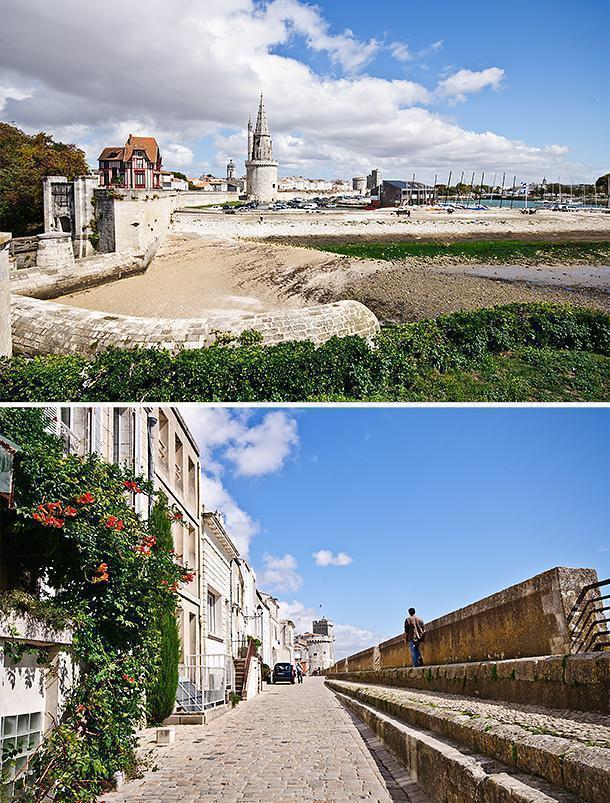 Arriving in La Rochelle from the park, you walk the ramparts towards the port.