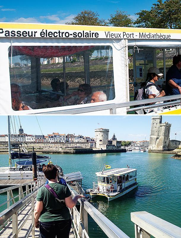 the Passeur électro-solaire offers a great view of the Vieux Port