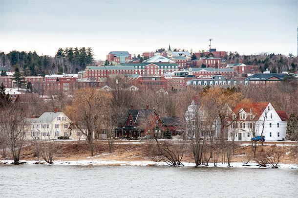 Quartermain House sits beside the St. John River below the University of New Brunswick, in Fredericton