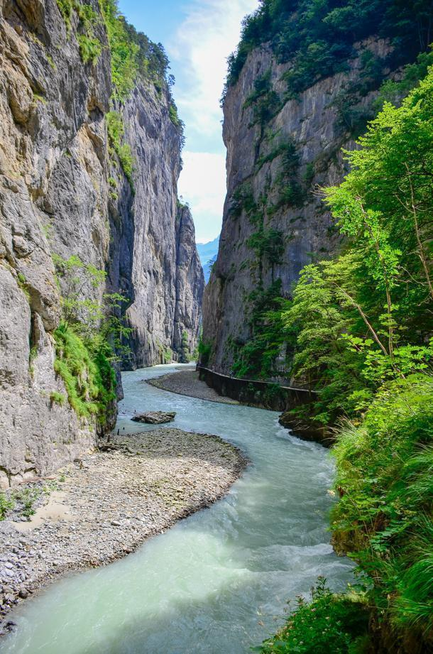 Hike the stunning Aare gorge, Switzerland