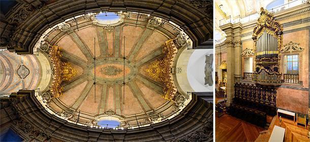 Inside the Clérigos Church, Porto, Portugal