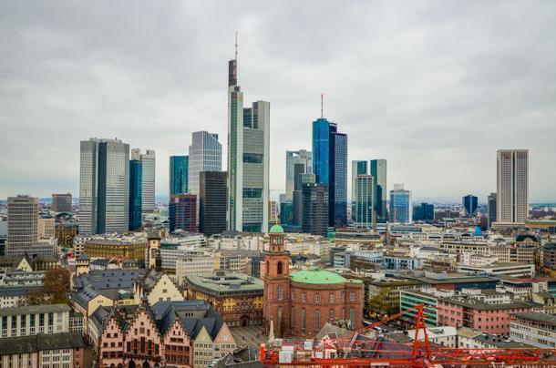 Frankfurt's sky-scraper filled centre