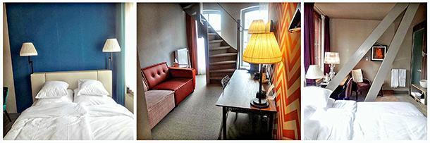 Different rooms: classic room, duplex suite and superior room