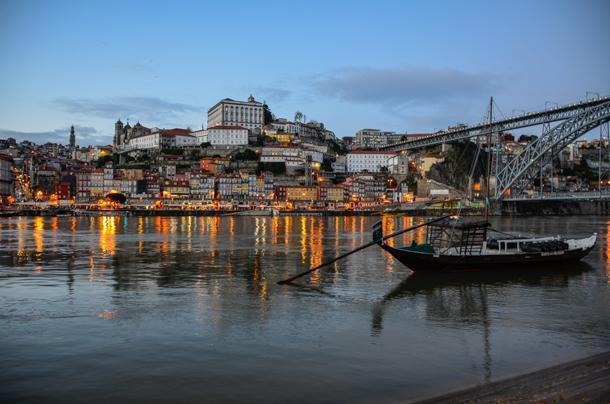 Porto in the evening