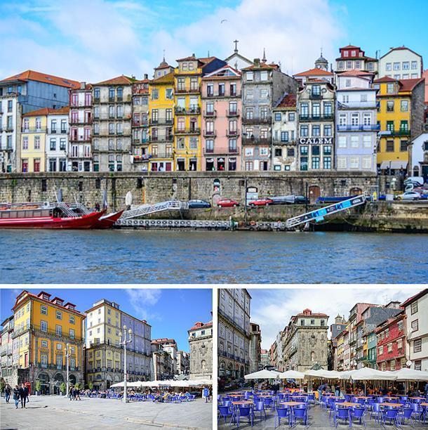 Praça da Ribeira, Porto's UNESCO designated heart.