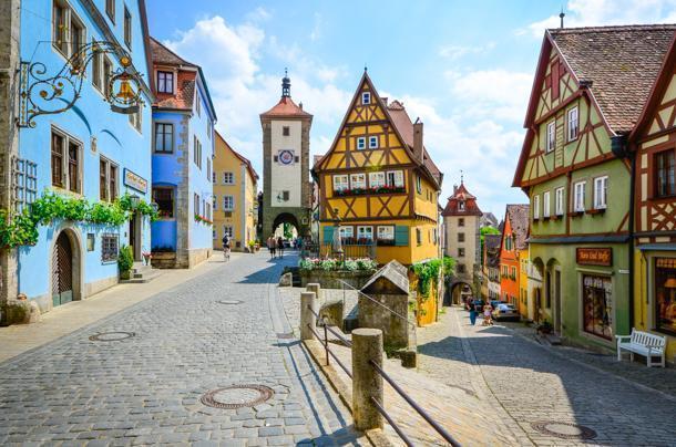 Rothenburg ob der Tauber is a UNESCO World Heritage site