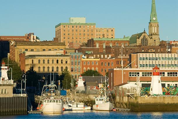 My hometown, Saint John, New Brunswick - not St. John's, Newfoundland...