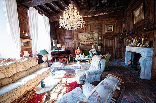 The chateau is a mix of styles and eras