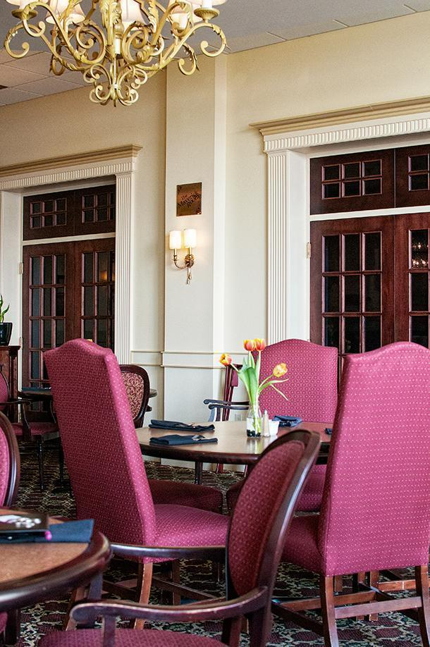 The traditional decor of the Terrace, Crowne Plaza Fredericton