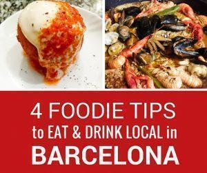 4 Places to eat and drink local in Barcelona, Spain