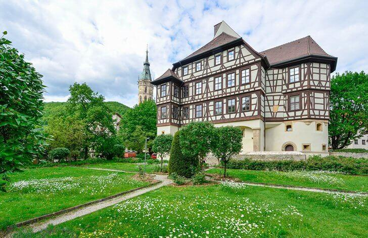 Visit the Residential Palace of Bad Urach, Germany.