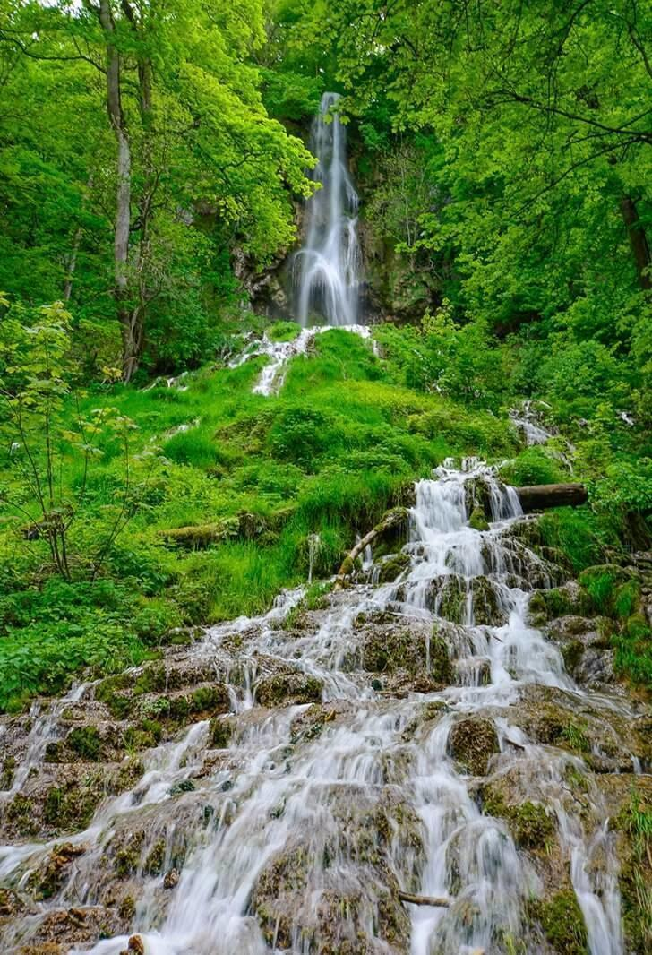 The stunning Bad Urach waterfall is an easy trek from the town centre and makes a great day trip.