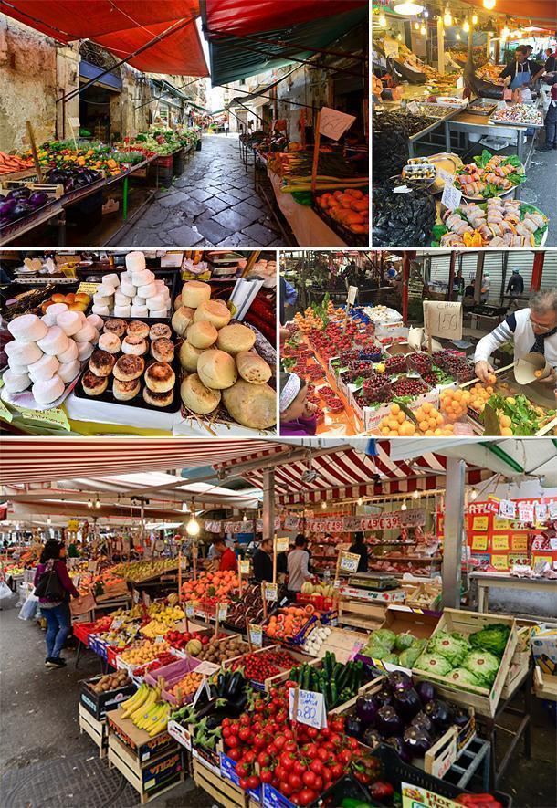 The vibrant Ballaro Market, Sicily, Italy
