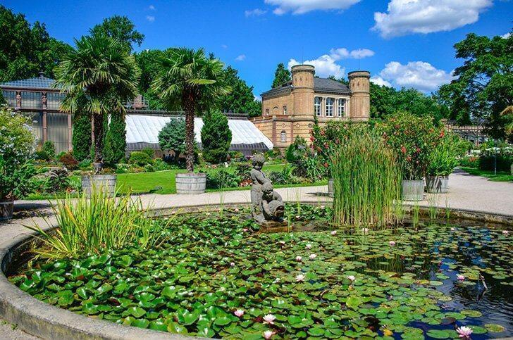 The Botanical Garden in Karlsruhe makes a great day trip for garden and nature lovers.