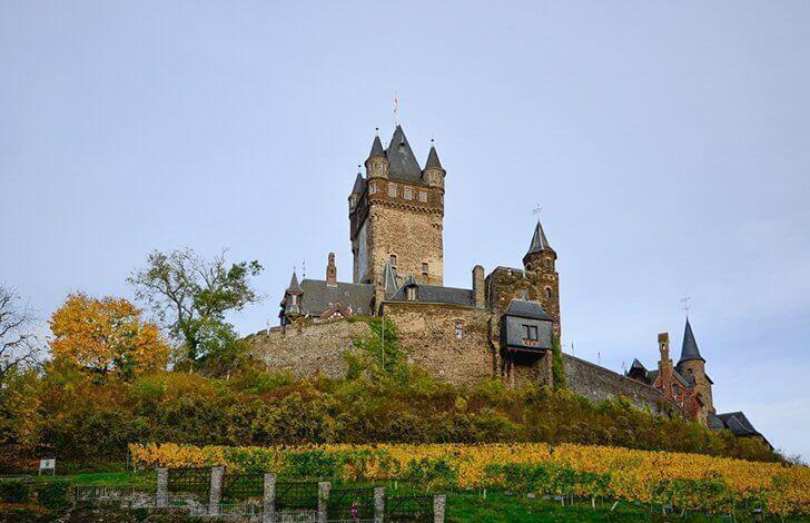 Visit beautiful Cochem Castle, an easy day-trip from Stuttgart, Germany.