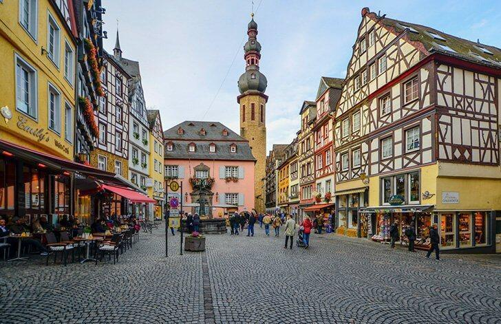 Cochem is one of Germany's pretty Timber-framed towns.