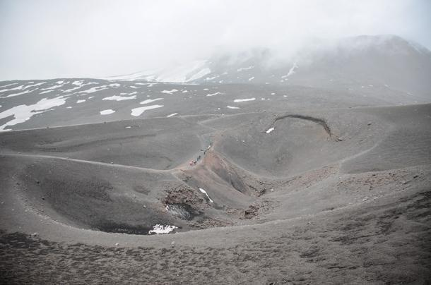 Crater walking Mount Etna