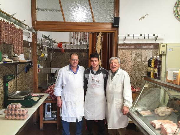 Filippo Canzone's Maceleria, our local butcher shop