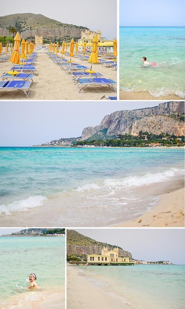 Fun at Mondello Beach in Sicily