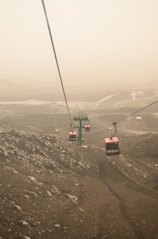 Take the Funicular midway up Mount Etna