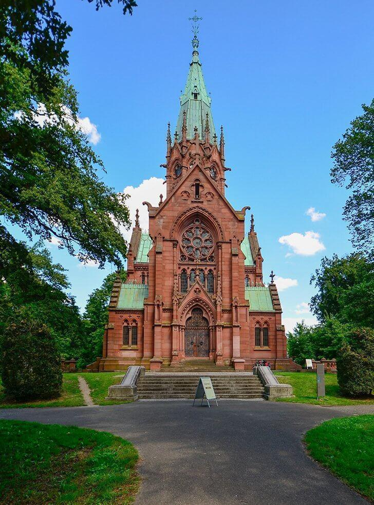 Take time to visit the Grand Ducal burial chapel of Karlsruhe.