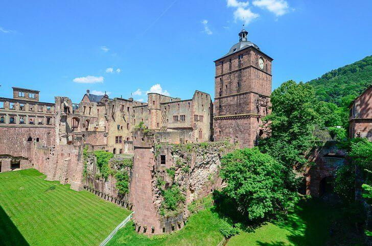 The imposing Heidelberg Castle in Germany.