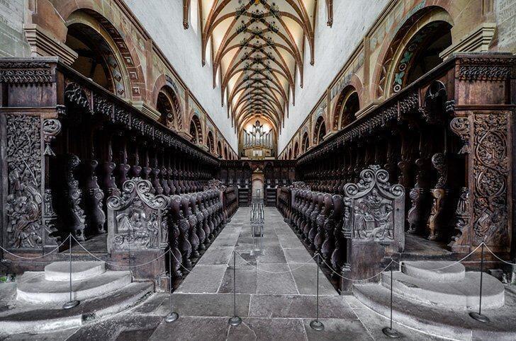 The stunning interior of Maulbronn Abbey, near Stuttgart, Germany.