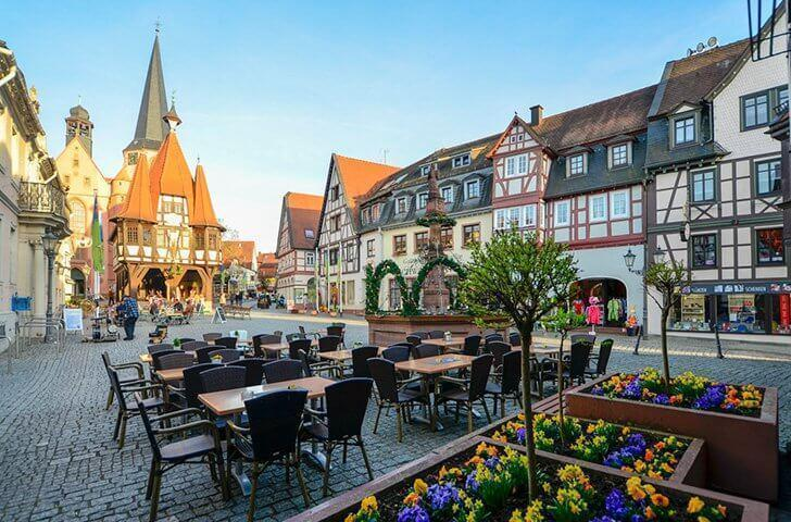 Spend a quiet day in pretty Michelstadt, Germany.