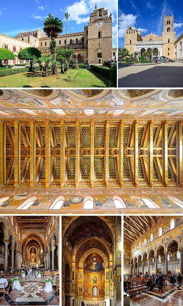 The stunning Monreale Cathedral, Sicily, Italy