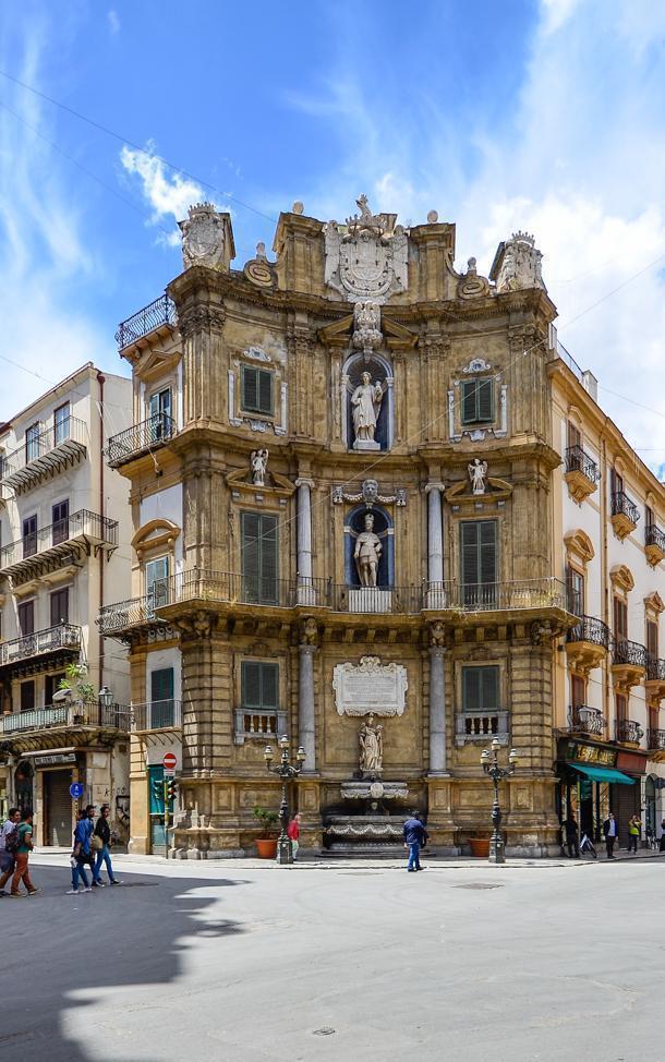 Piazza Vigliena, or Quatro Canti, Palermo, Sicily