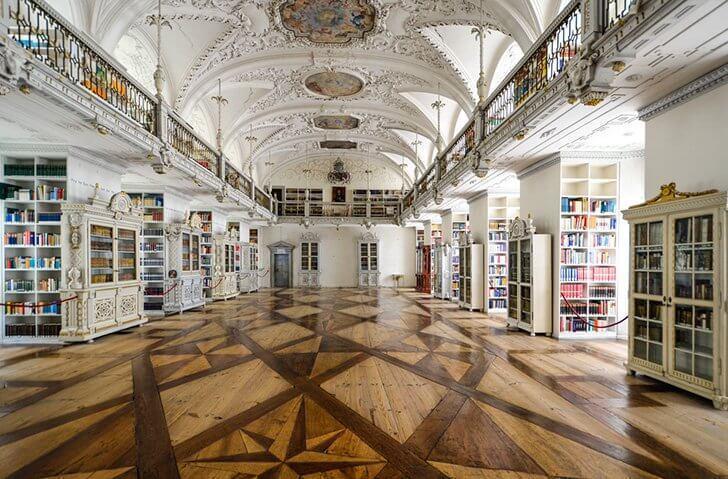 Inside the Salem Library.