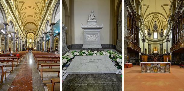 Inside the San Domenico Church, in Palermo, Sicily