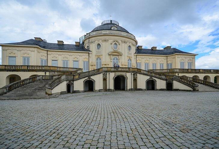 Schloss Solitude is a favourite attraction near Stuttgart, Germany