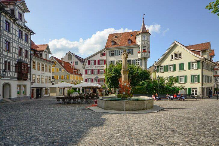 St. Gall in Switzerland makes a great day trip from Stuttgart, Germany.