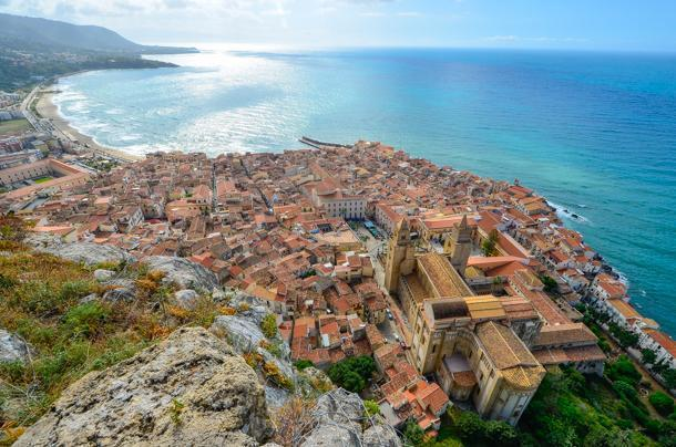 View from La Rocca of Cefalu is worth the effort