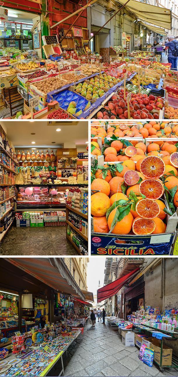Vucciria's colourful Market, Sicily, Italy