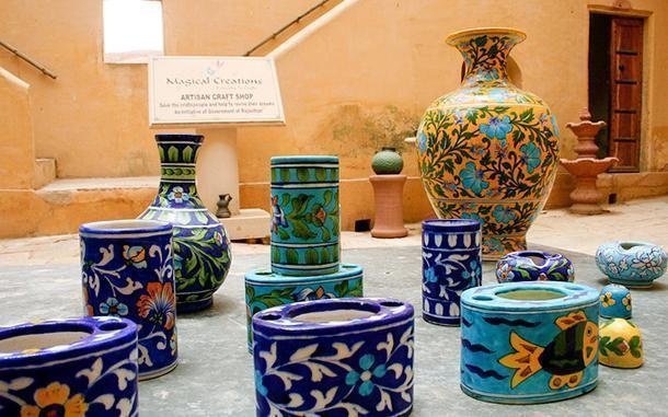 Shop for colourful handicrafts in Jaipur