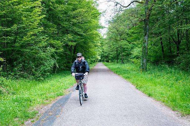 Slowing down on the Loire a Velo bicycle route