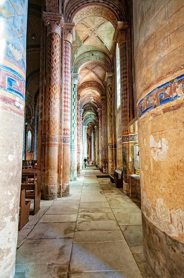Almost every surface in the church is painted
