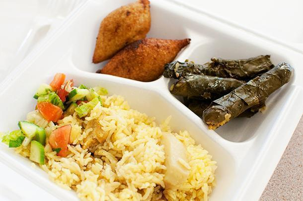 Delicious Syrian food from Suphieh's Taste of Syria, at the Cultural Market