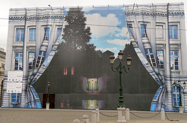 Before the opening of the Musee Magritte Museum, even the building was surreal