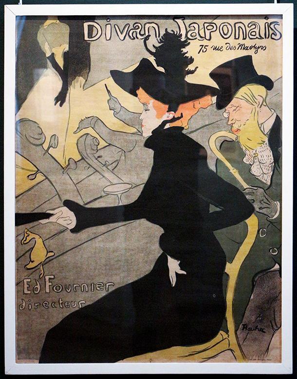 The Ixelles Museum has all of the lithographs by Henri de Toulouse-Lautrec, like Le Divan Japonais