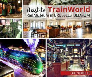 TrainWorld rail museum in Brussels, Belgium