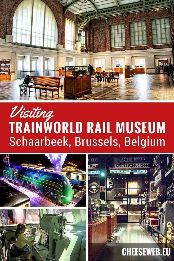 Train World rail museum in Brussels, Belgium