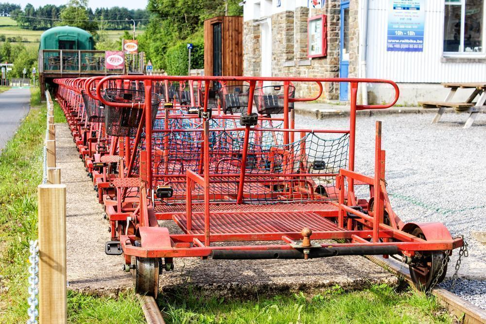 Railbikes sleeping in Leykaul, Belgium